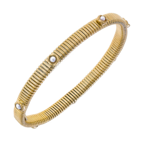 Canvas Jewelry CJ 21936B Thin Snake Bracelet with Stones