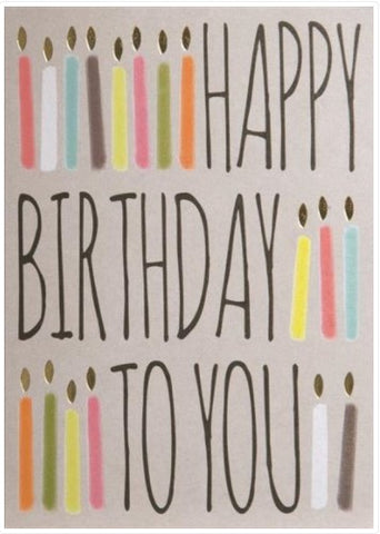 Design Design Inc DDI 100-15328 Happy Birthday In Candle Rows