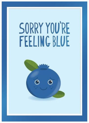 Design Design Inc DDI 100-31606 Sorry You're Feeling Blueberry