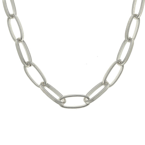 Canvas Jewelry CJ 21051N-SL Jolie Paperclip Chain Necklace