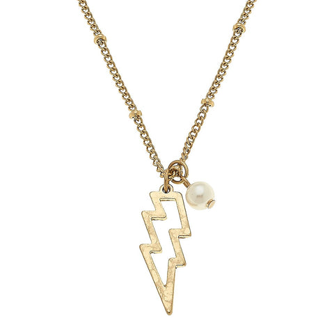 Canvas Jewelry CJ 20938N-GD Thunderbolt Necklace
