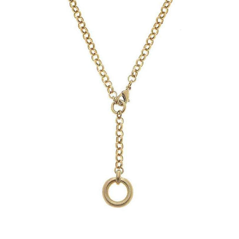Canvas Jewelry CJ 21845N-GD Paige O-Ring Y Necklace