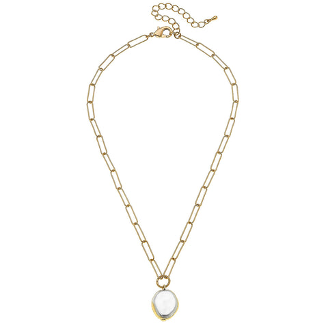 Canvas Jewelry CJ 21883N-GD Camille Necklace