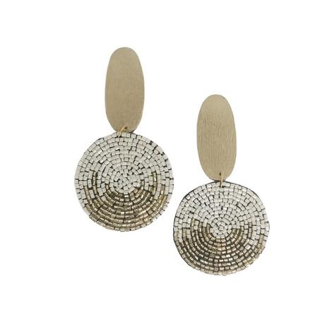 Millie B Designs MBD Kelly Earrings - White Gold