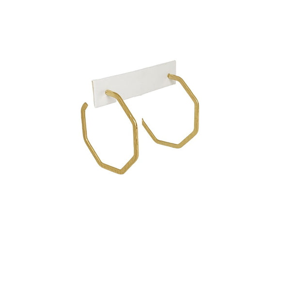 Millie B Designs MBD Gemma Hoop Earrings-Matte Gold