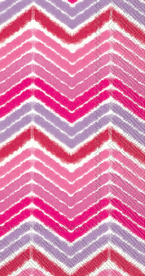 Boston International Inc. BF603155 IKAT Stripe Pink Guest Napkins