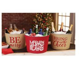 Mud Pie MP- 4865007B Be Merry Bulap Tub