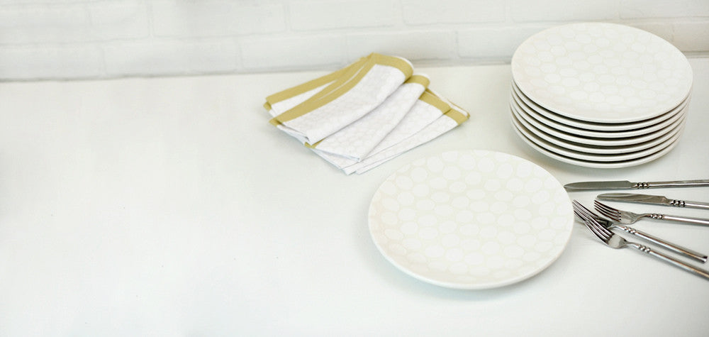 Coton Colors CC-PBL-11DP-WH Pebble 11 Dinner Plate White