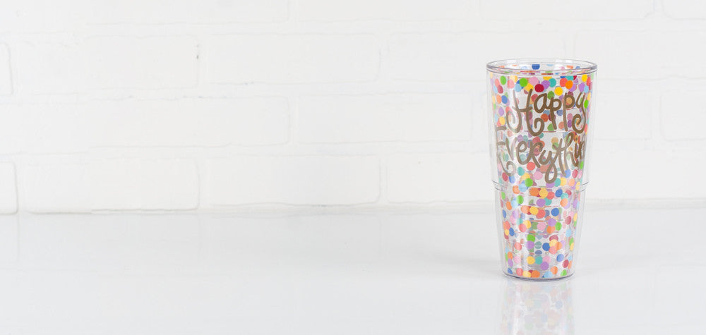 Coton Colors CC-HAPEV-T24-TOSS 24 oz. Tervis Tumbler Happy Everything Toss Wrap