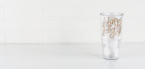Coton Colors CC-HAPEV-T24-WHT-DOT 24 oz. Tervis Tumbler Happy Everything White Big Dot Wrap