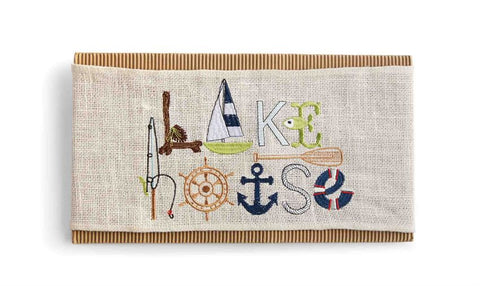 Mud Pie MP-4264082 Lake House Pillow Wrap