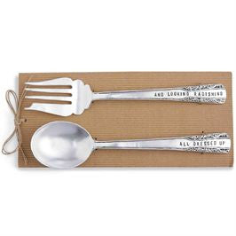 Mud Pie MP-4011010 Circa Salad Serving Set