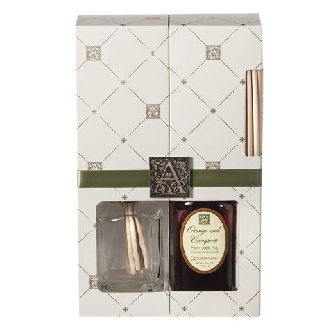 Aromatique-AQ- Reed Diffuser With Orange & Evergreen Oil 11252