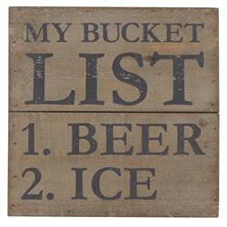 Mud Pie MP-4265219B Bucket List Wood Plaque