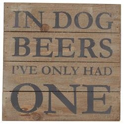 Mud Pie MP-4265219D Dog Beers Wood Plaque