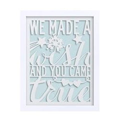 CR Gibson CRG-BTF-15371 We Made a Wish - Boy Laser-Cut Frame - MDF