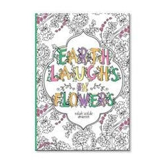 CR Gibson CRG-J70-16889 Earth Laughs Flowers Coloring Journal
