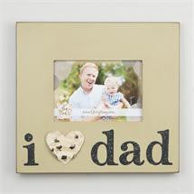Glory Haus GH-3081001 I Love Dad Tin Heart Frame 10x12