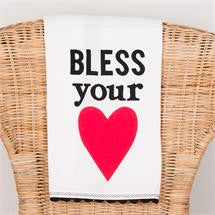 Glory Haus GH-7080519 Bless Your Heart Tea Towel