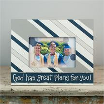 Glory Haus GH-3060201 Striped God Has Great Plans Frame