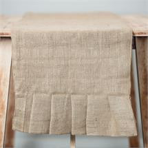 "Glory Haus GH-7440504 90"" Plain Burlap Table Runner"