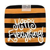 Coton Colors CC-HAPEV-9.25PL-CAM Camel Stripe Happy Everything 9.25 in Mini Platter