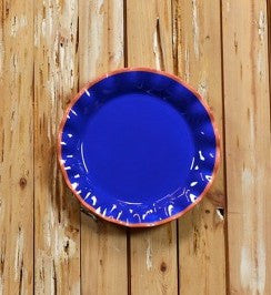 Coton Colors CC-MDMX-11RDP-IND Midcentury Mix 11 Ruffle Plate Indigo