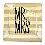 Coton Colors CC-WED-12SQ-MRMRS Wedding 12 Square Platter Mr. & Mrs.