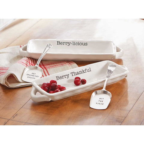 Mud Pie MP-4101027G Get Sauced Cranberry Dish Set