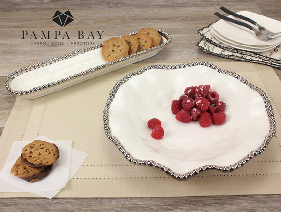 Pampa Bay PB-CER1135W Porcelain Round Serving Plate