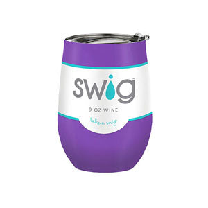 Occasionally Made OM-SW-9-PR Swig 9oz Wine Cup-Purple
