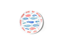 "Coton Colors CC-M10DP-SEA-WRDFSH Under the Sea Fish Word Collage 10"" Melamine Dinner Plate"