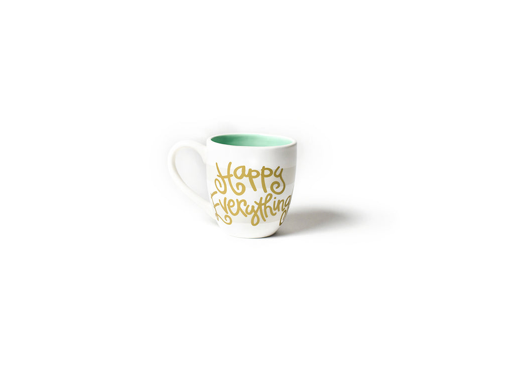 Coton Colors CC-HAPEV-MUG-WHT White Stripe Happy Everything 4.25 Mug