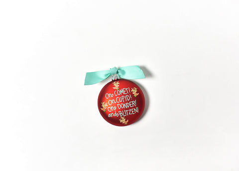 Coton Colors CC-CHMAS-TWAS4 Calling The Reindeer Glass Ornament