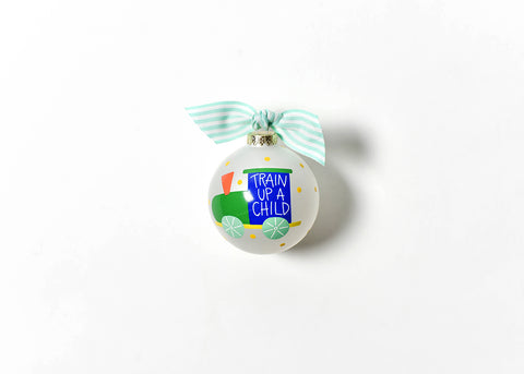 Coton Colors CC-CHILDTRAINUP Train Up a Child Glass Ornament