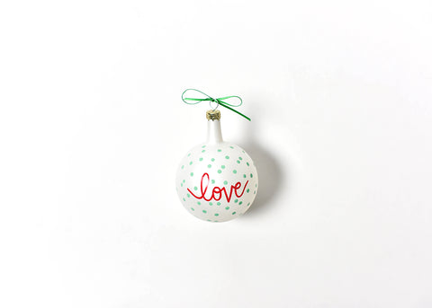 Coton Colors CC-CHMAS-SPR-LVE Christmas Spirits Love Vintage Glass Ornament