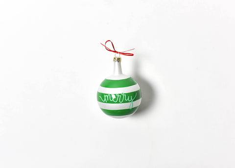 Coton Colors CC-CHMAS-SPR-MRY Christmas Spirits Merry Vintage Glass Ornament