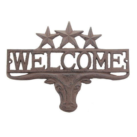 Stonebriar Collection SC 5230A  Cast Western Welcome Sign