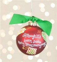 Coton Colors Merry Christmas to You Ornament
