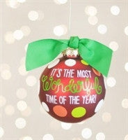 Coton Colors It's the Most Wonderful Time of the Year Ornament