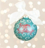 Coton Colors Happy Holidays Ornament