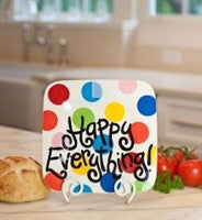 Coton Colors Bright Dot Happy Everything Mini Platter 9.25 in