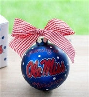 Coton Colors Ole Miss Logo Ornament