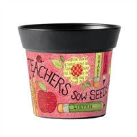 Teacher Sow Seeds Art Pot