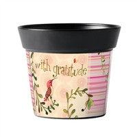 With Gratitude Art Pot