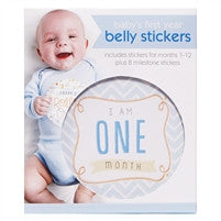 Boy First Year Belly Stickers
