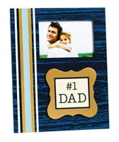 #1 Dad Wooden Picture Frame
