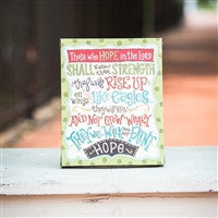 Glory Haus Hope In The Lord Table Top Canvas