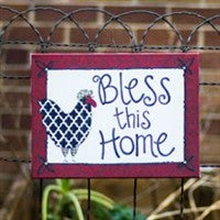 Glory Haus Bless This Home Rooster Canvas