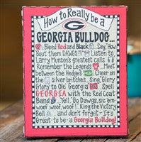 Glory Haus How To be A Georgia Bulldog Table Top